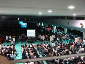2006年4月京都大学入学式 保護者席