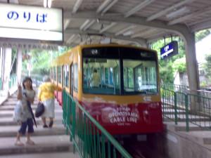男山ケーブルカー 京阪電鉄 2008年6月