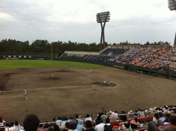 2012年7月22日石川県立野球場 金沢泉丘高校vs輪島高校