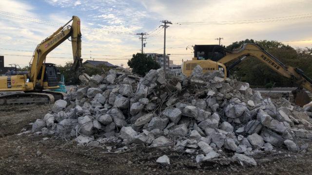 元「パティスリー・ラ・ナチュール」建物解体の様子 2018年10月4日(木)