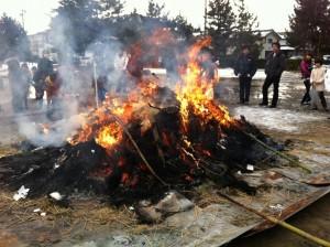 10分ほどで全体が燃えてしまいました