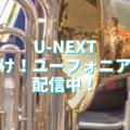 吹奏楽なみなさん、U-NEXTで「響け!ユーフォニアム」が見放題配信されています!