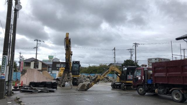 元「パティスリー・ラ・ナチュール」建物解体の様子 2018年9月22日(土)